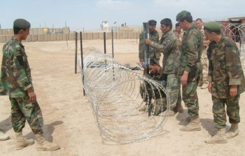 We were worried the soldiers might cut themselves on the razor wire