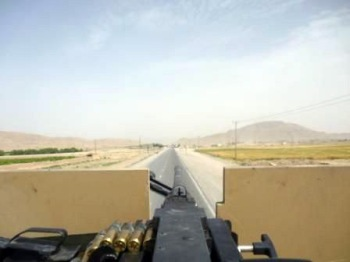 Riding shotgun in Afghanistan
