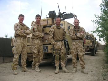Me and my crew after arriving in Afghanistan. I am second from the right.
