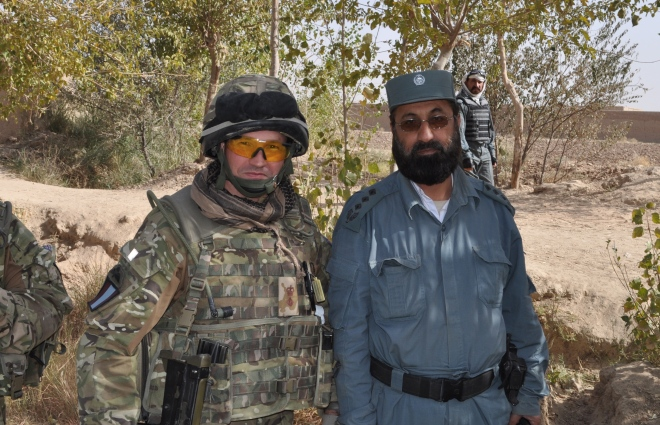 Me with Colonel Kamalluddin