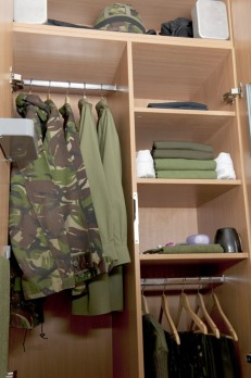 A Junior Soldier's locker, ready for inspection