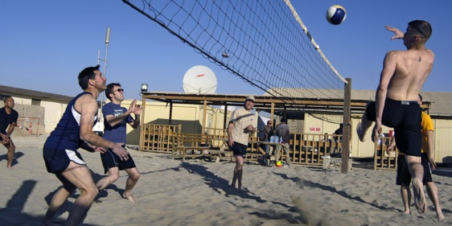 Media Ops volleyball match