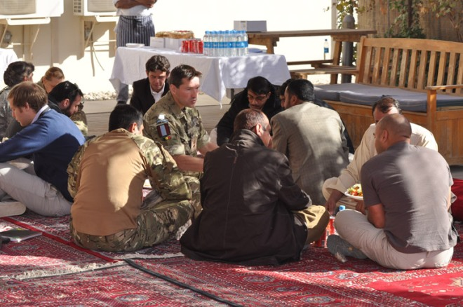 Lunch with Afghan media