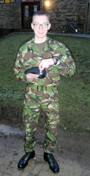 JS Field with his Royal Signals cap badge