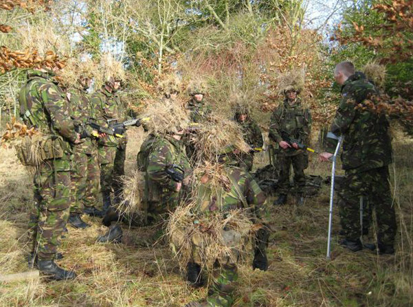 Camouflage and concealment lesson