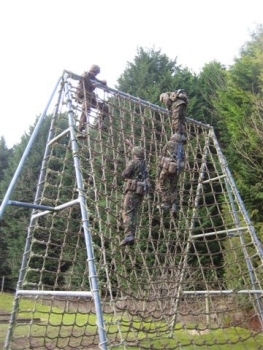 Junior Soldiers participating in the CO's Competition at ATFC Winchester
