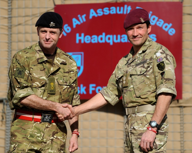 Helmand Handover: Lieutenant Colonel Tim Purbrick (left) and Lieutenant Colonel David Eastman (right)