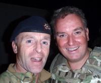 Lieutenant Colonel Tim Purbrick with his successor, Lieutenant Colonel Gordon Mackenzie