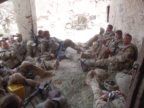 Resting up with L Company, 42 Commando, south of Loy Mandeh Kalay during Operation OMID HAFT when we heard the double explosion.