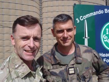 Lt Col Tim Purbrick and Lt Col Herve Pierre of the French Marines