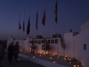 The candle-lit memorial service in Lashkar Gah on the 10th Anniversary of the 9/11 attacks