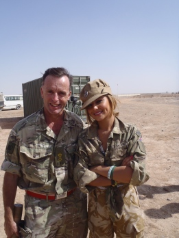 Lt Col Tim Purbrick with his biggest fan, Cheryl Cole