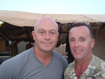 Former Eastenders bad boy Ross Kemp with current Westenders good boy Tim Purbrick