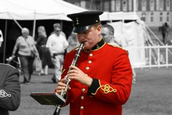 Army musician Lance Corporal Daniel King