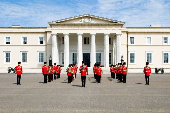 Royal Signals band at Royal Military Academy Sandhurst
