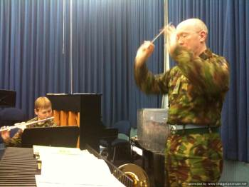 The bandmaster in action