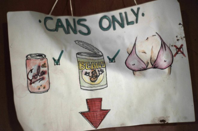 Cans only, No paper/magazines