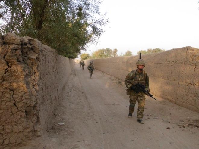 C Company on patrol in Nad-e-Ali