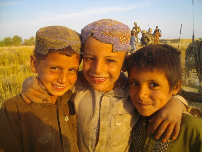 Local children in Nad-e-Ali