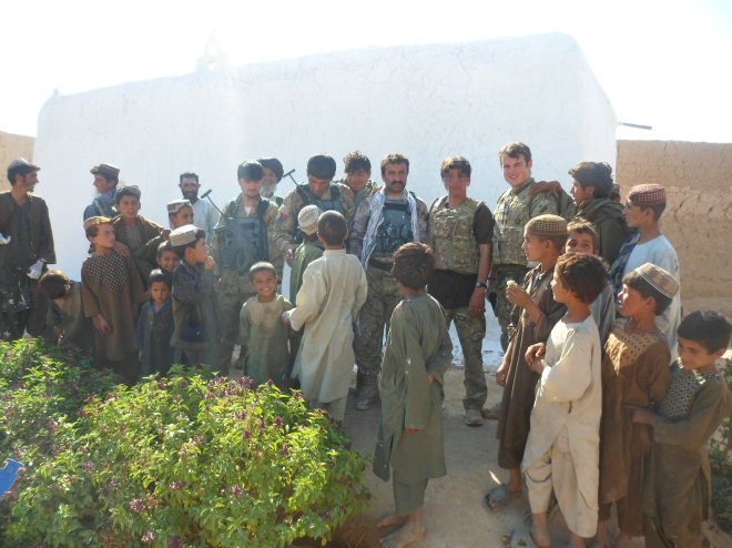 Mosque-painting project in Nad –e-Ali with the Afghan National Civil Order Police