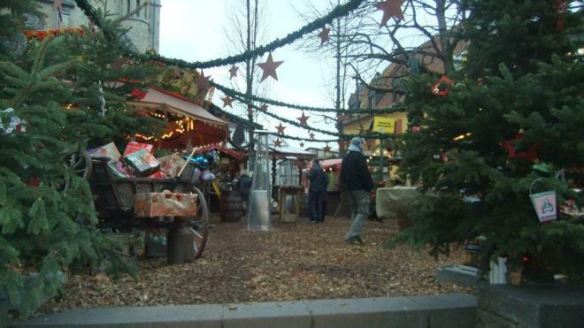 A festive scene.