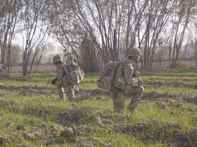 B Company on patrol in Nahr-e-Saraj