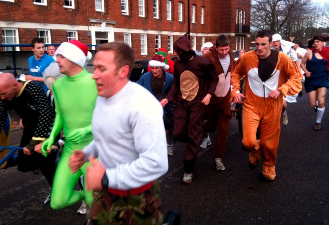 Members of the Battalion during Rudolph challenge
