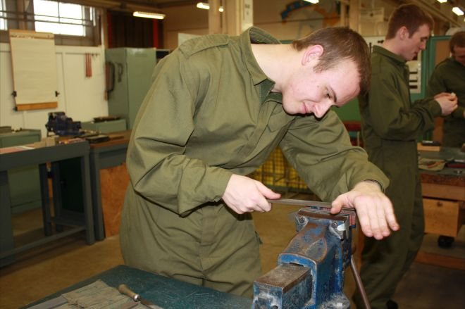 Benchfitting is a key skill for REME tradesmen