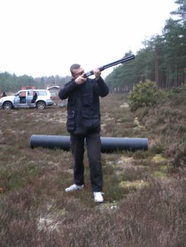 Clay pigeon shooting for sport on a Wednesday afternoon.
