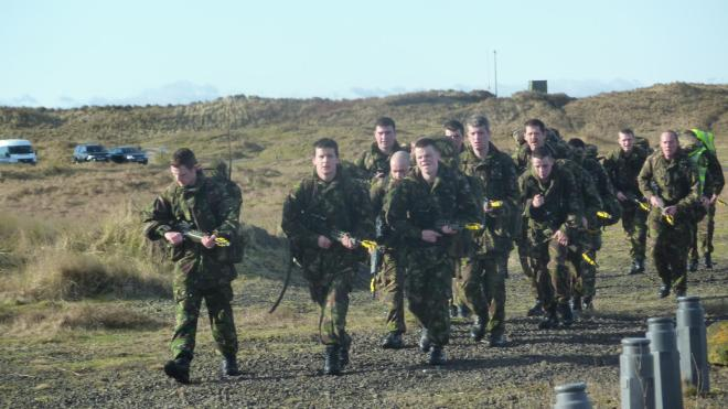 The Annual Fitness Test loaded march at Barry Budden Training Area.
