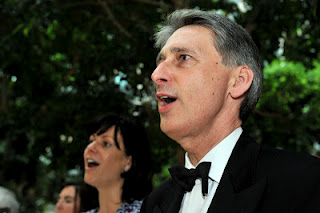 Philip Hammond sings God Save the Queen