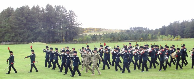 The Rifles Band and Buglers
