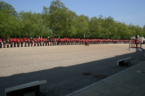 'World Record Fanfare Line' Bands included: Foot Guards Bands, Royal Artillery, Royal Marines Band Service.