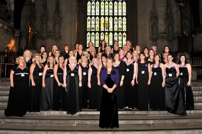 Salisbury Plain Military Wives Choir inside The Grand Hall