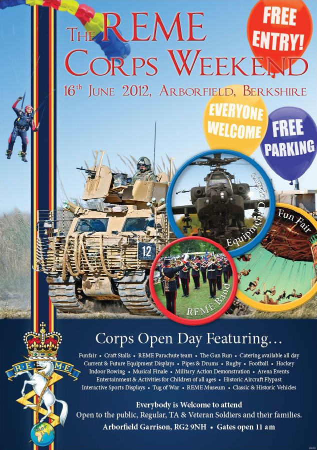 REME corps weekend 16th June 1012