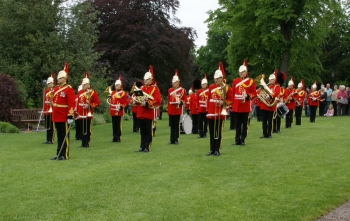 The Band in Museum Gardens, York, Royal Salute