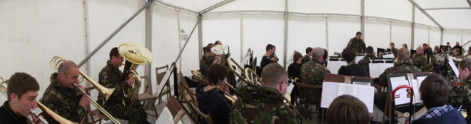 The Band performs at the Armed Forces Careers Event, Catterick.