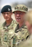 Lt Col Maconochie 3 Rifles, Commanding Officer of th British Advisory Group for the Afghan National Army, 3215 ANA Corps