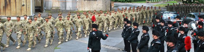 The Prince of Wales' Own Yorkshire Regiment and The Royal Ghurkha Rifles medals parade