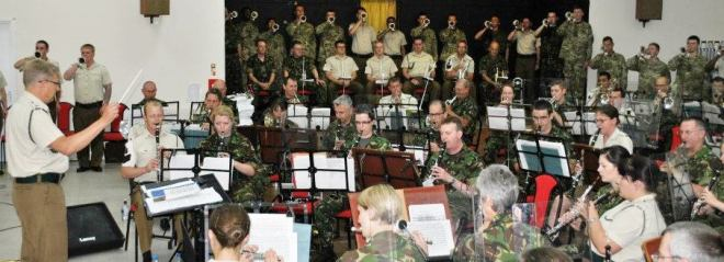 Some of The Massed Band and Bugles of The Rifles.