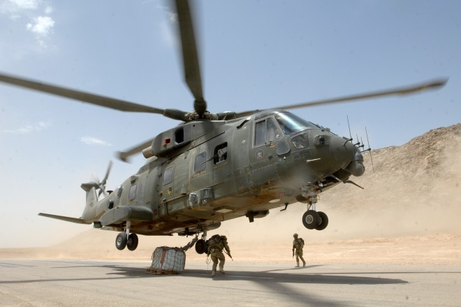 The Merlin crew deliver a variety of troops and underslung cargo