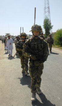 On Patrol in Lashkar Gah