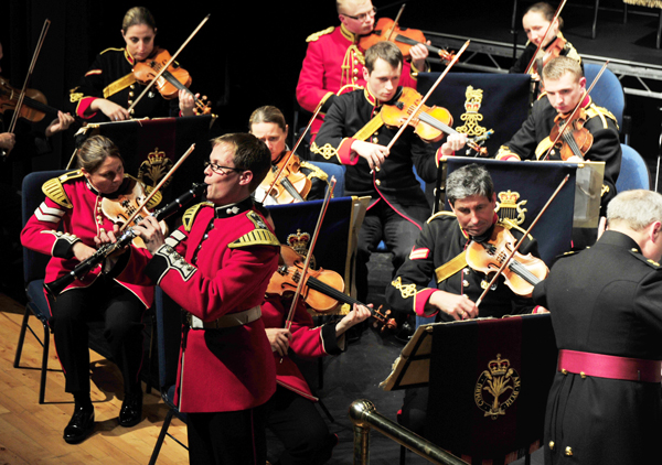 LCpl Shellard performs at Arlington Arts Centre Newbury with the Sinfonietta