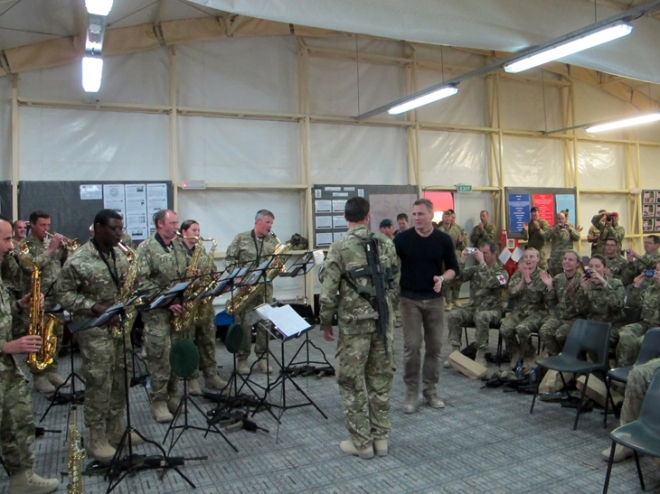 The AGC Band with Daniel Craig in Afghanistan
