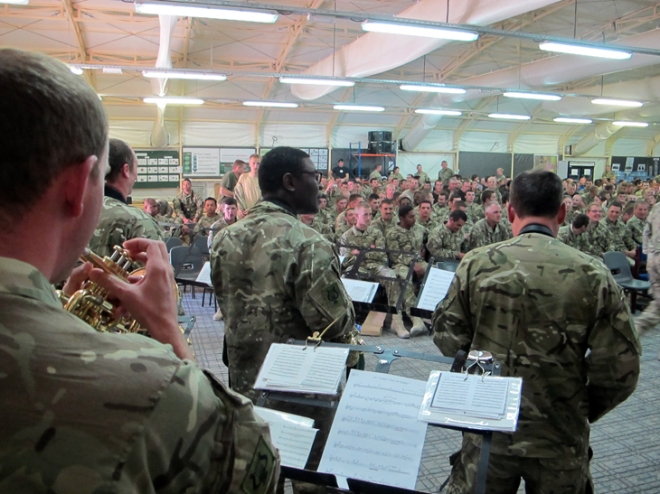 The AGC Band entertaining troops