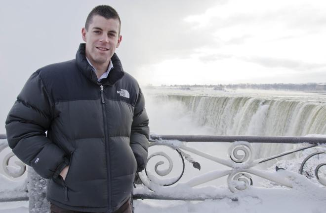 Lance Corporal Glen Little at Niagara Falls.