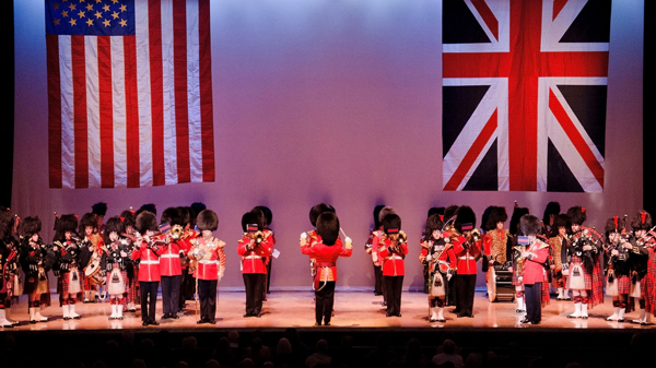 Band of the Scots Guards performing in the USA
