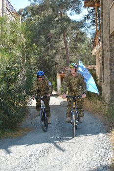 Bike Patrol Sector 2 City Rorke's Drift, Pte Billy Brook (l) Cfn James Morley (r) 17 Port and Maritime Regt RLC