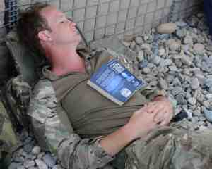 Time for a well-earned rest. Sgt Barry Pope RLC (Phot)