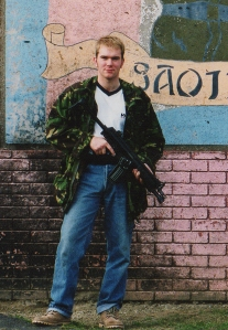 Author during Royal Military Police Training in Northern Ireland